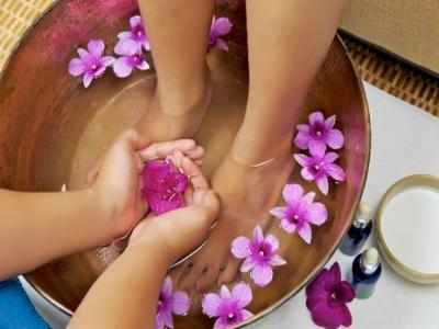 Bain de pieds relaxant