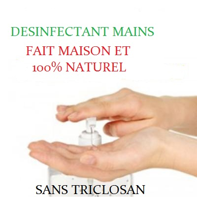 Désinfectant naturel mains