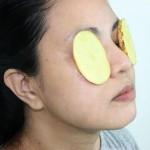 Pommes de terre sur les yeux