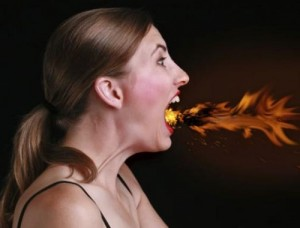 Gorge en feu