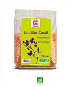 Celnat Lentilles corail 500g