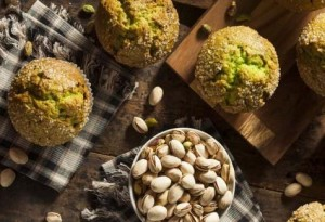 Muffins poire pistaches
