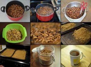 Préparation poudre et café glands de chêne