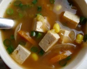 Soupe au miso préparation