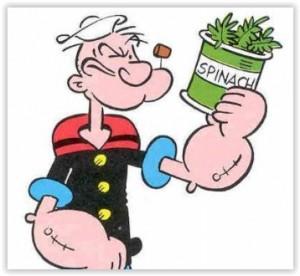 Popeye et les épinards