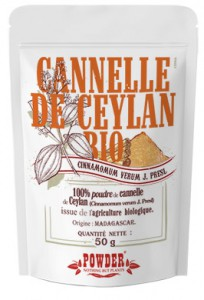 Cannelle de Ceylan bio en poudre