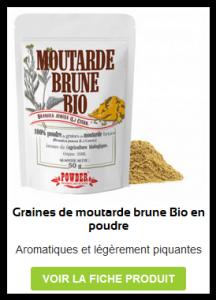 Graines de Moutarde Brune en poudre