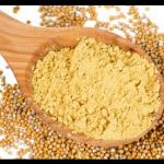 Graines de moutarde en poudre