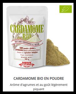 Poudre de Cardamome Bio